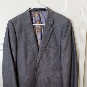 TED BAKER LONDON 100% Linen 'Lartey' Blazer Size 4